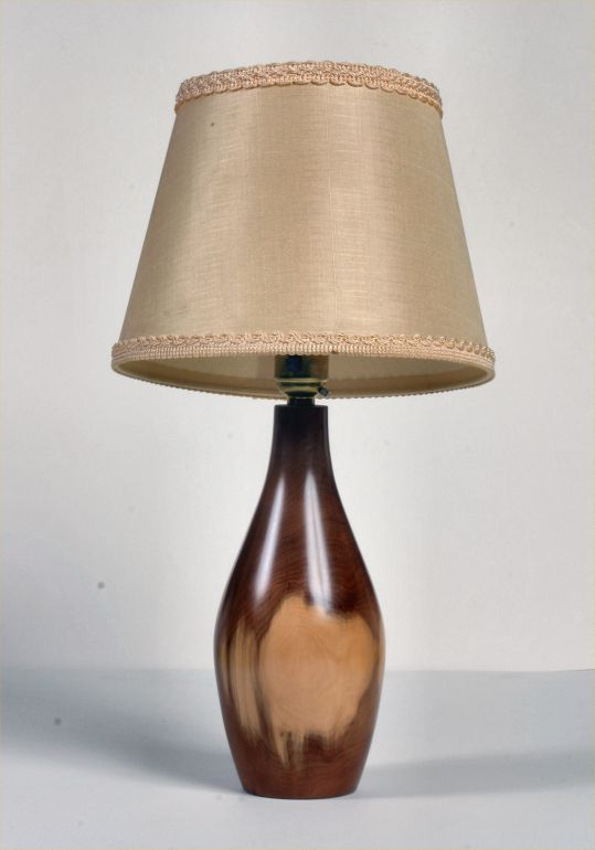 Table Lamp in Yew by Ronald Hewlett